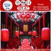Moquette rossa della fase della stuoia di /Wedding Corridoio della moquette di cerimonia nuziale di mostra di Decovative