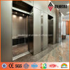 4mm Champagne Metallic Hotel Interior Decoration Aluminum Wall Panel