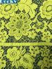 Tissu jaune de lacet d'extension de tissu de robe de lacet pour Madame