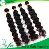 A maioria de cabelo malaio popular de Remy do cabelo humano para a onda do corpo