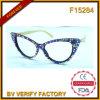 Eyeglass colorido extravagante de Sun do frame do diamante F15284