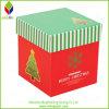 Tapa y rectángulo de regalo de empaquetado acanalado base de la Navidad