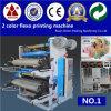 Parte dianteira e máquina de impressão Flexographic impressa parte traseira