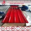 亜鉛によって塗られる電流を通された波形の屋根ふきシートを着色しなさい