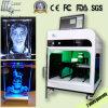 machine de gravure du laser 3D en cristal pour le cadeau de Noël