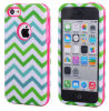 2in1 Colorful combinado Chevron Pattern TPU Caso Hybrid Cover para iPhone5 5s/5c