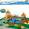 De houten Speelplaats van de Lage school Playsets plaatst HF-17202