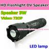 HD Flashlight DV con Music Speaker