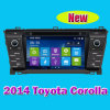 Multimedia GPS Navigation System、Toyota Corolla 2014年のOEMのセリウムのためのDVD Playerの車DVD Player Approved (IY7115)