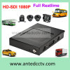 3G 4G Hard Drive HDD 4CH Car Fleet Management DVR mit GPS Tracking