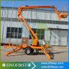 Araignée aérienne traînée remorquable mobile hydraulique Manlift