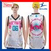 Diseño de encargo de Jersey de la camiseta del baloncesto de la sublimación reversible de Healong