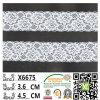 Cordón elástico atractivo de la alta calidad para los calcetines X6675 de las mujeres