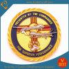 La polizia militare dell'oro su ordinazione commemora la moneta del metallo