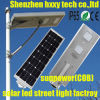 Luz de rua 6W-100W solar Integrated clara ao ar livre do diodo emissor de luz com Ce, RoHS, IP65, ISO aprovado