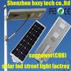 Luz de calle solar integrada ligera al aire libre 6W-100W del LED con el Ce, RoHS, IP65, ISO aprobada