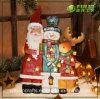 Bonhomme de neige et Reindeer Decoration (NF360092) de Noël Resin Christmas de Polyresin