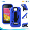 Младший 4.0k D143k черточки двойного аргументы за телефона Kickstand слоя гибридного голубой