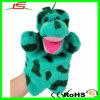 Kundenspezifisches Plüsch-grüner Dinosaurier-Handmarionetten-pädagogisches Spielzeug
