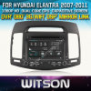 Hyundai Elantra (W2-D8256Y)에서 Witson Special Car DVD Player GPS Steering Wheel Control Front DVR Capactive Screen