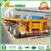 Reboque Flatbed do leito do recipiente de transporte 40FT