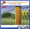 Clôture galvanisée certifiée par OIN de treillis métallique en métal soudé