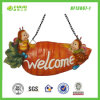 Abeilles Carrots Welcome Sign Decoration pour Hanging (NF13067-1)