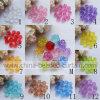Lotto dei branelli Galore di plastica acrilici dei branelli di figura del fiore della Rosa per i monili DIY di modo