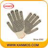 Природные Тс хлопок трикотажные ПВХ Точки работы перчатка (61003TC)