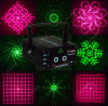 Laser Light de Red&Green 16 Graphics Fireworks para Disco/KTV/Pub/Christmas/Holiday