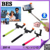 2014 Selfie popular Stick com Bluetooth Shutter Button