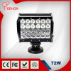 6.5inch 72W Four Row LED Work Light Bar, Flood Driving Lights Offroad Fog 4WD Boat