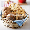 Cesta do pão barata Handmade redonda do salgueiro branco