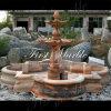 大理石の石造りの花こう岩の庭のNyの赤い噴水Mf1018