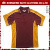 Uniforme de chemise de polo de modèle de collier de combinaison de couleur (ELTMPJ-250)
