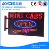 Muestra electrónica de las casillas LED del rectángulo de Hidly mini