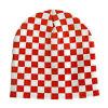 Sombrero controlado rojo y blanco de la manera de la gorrita tejida (JRK051)