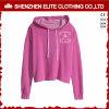Muchachas rosadas elegantes de Hoodies de la cosecha de la calidad en blanco de encargo barata (ELTCHI-16)