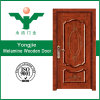 La Chine a moulé la porte extérieure en bois solide d'acajou de mélamine