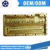 Peças de alumínio anodizadas ouro, peças de trituração do CNC, fazer à máquina do CNC da precisão