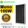 El mono panel solar 100wp de 100W 24V