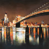 Hand - Painted Reproduction Oil Painting for Bridge