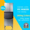 o Ce 230kg aprovou a máquina de gelo modular com projeto do aço inoxidável