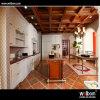 Конструкция мебели и кухонных шкафов кухни твердой древесины Welbom классицистическая