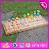 Brinquedo de madeira da contagem de 2015 miúdos relativos à promoção, brinquedo de madeira da contagem do brinquedo da matemática das crianças da inteligência, brinquedo de madeira W12e001 da contagem do brinquedo da alta qualidade