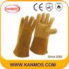 Натуральной кожи Промышленные сварочные работы перчатки (11126)