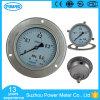 Ybf100bd 100mm 4 Zoll-volles Edelstahl-Druckanzeiger-Manometer mit dem drei Loch-Flansch