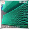 PVC beschichtete kohlenstoffarmer Stahl-flachgedrücktes erweitertes Metallineinander greifen