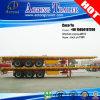 oplegger semi-Reboque van het Bed van de Container van 40ft de Vlakke voor Angola