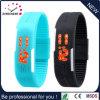 Montres populaires de bracelet en caoutchouc de silicones de montre neuve de l'arrivée DEL